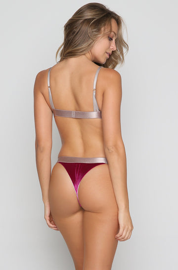 Marlo Bikini Bottom in Wild Rose Velvet