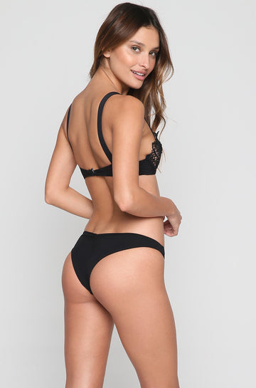 Malibu Crush Bikini Bottom in Black