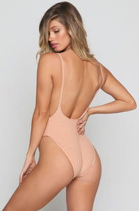 Pacific One Piece in Blush Rib
