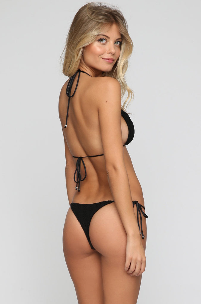 INDAH 2016 Tucker Bikini Top in Black|ISHINE365 - 3