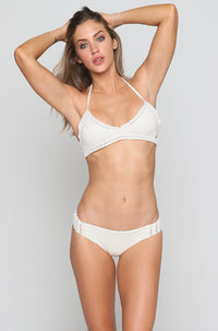 Hippie Hooray Hawaii Lo Bikini Bottom in Seashell