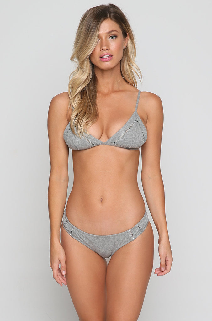 My Bralette Top in Grey Marle