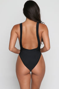 Goddess Swimsuit in Black Heart Breaker