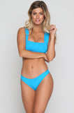 Parker Bikini Top in Electric Blue