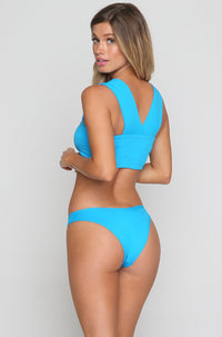 Whiplash Bikini Bottom in Electric Blue
