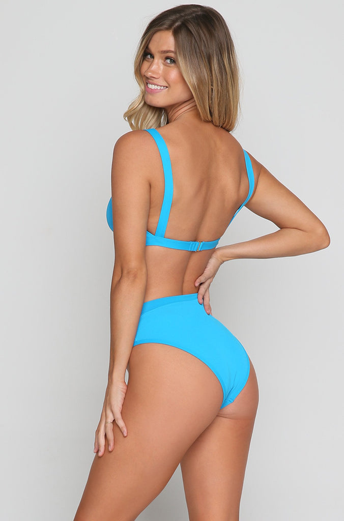 Ridin' High Frenchi Bikini Bottoms in Electric Blue
