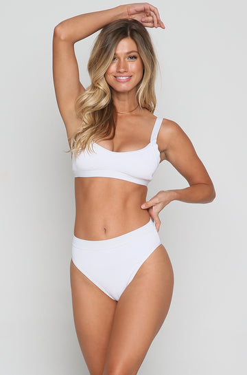 Ridin' High Mac Bikini Top in White