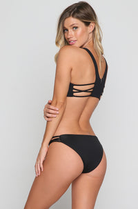 Low Down Bikini Bottoms in Black