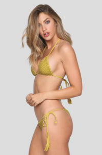 Polihale Crochet Bikini Bottom in Pineapple