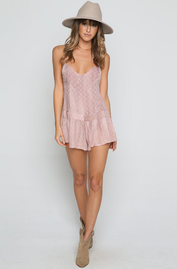 Breeze Romper in Bronze Casablanca