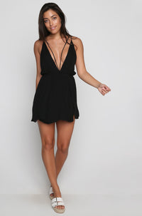 Cotton Club Mini Dress in Black