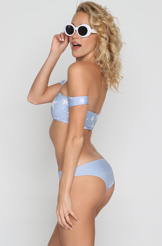 Malibu Bottom in Denim Stripe