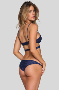 Cusco Mesh Bikini Bottom in Ocean/Beach Babe