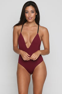 Dylan One Piece in Burgundy