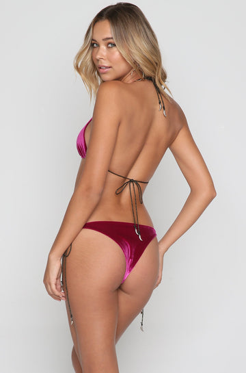Devon Bikini Bottom in Rose Velvet