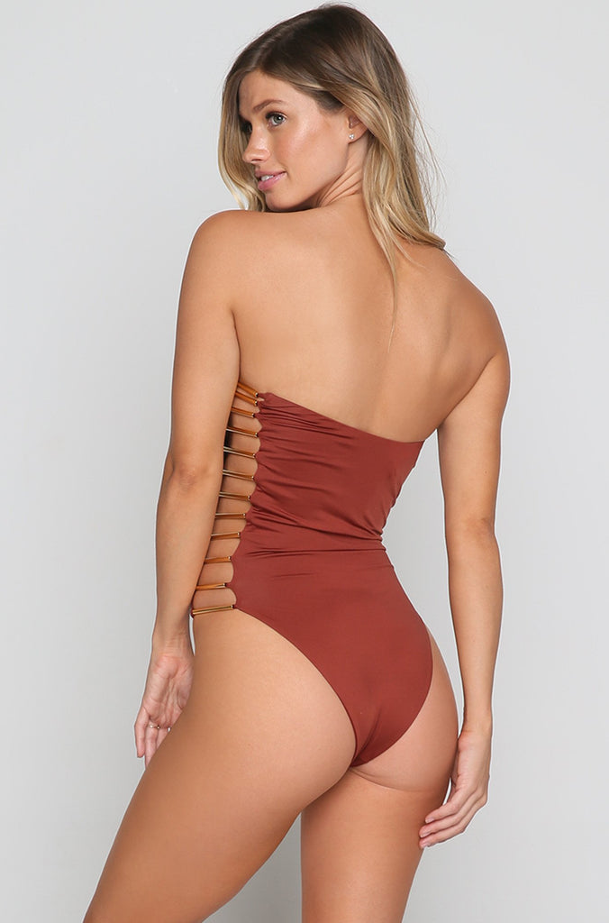 Bamboo One Piece in Clay