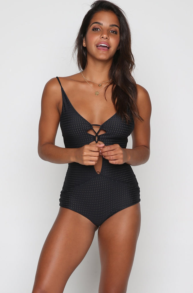 Kokomo One Piece in Black Beauty Mesh