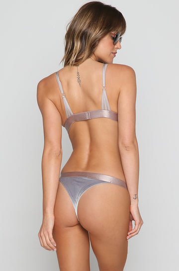 Marlo Bikini Bottom in Ice Velvet