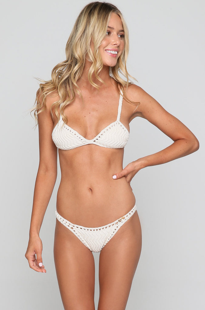 Laharia Triangle Bikini Top in Natural