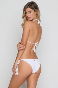 Lace String Bikini Bottom in White