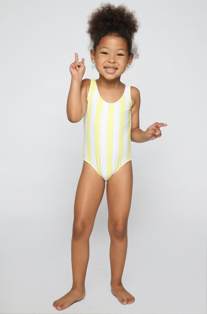 Lolli Swimwear 2016 Sweetie Babykini One Piece in Mellow Yellow Stripes|ISHINE365 - 2