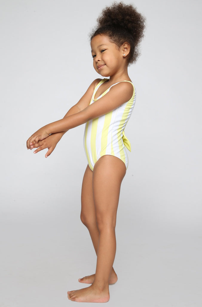 Lolli Swimwear 2016 Sweetie Babykini One Piece in Mellow Yellow Stripes|ISHINE365 - 3
