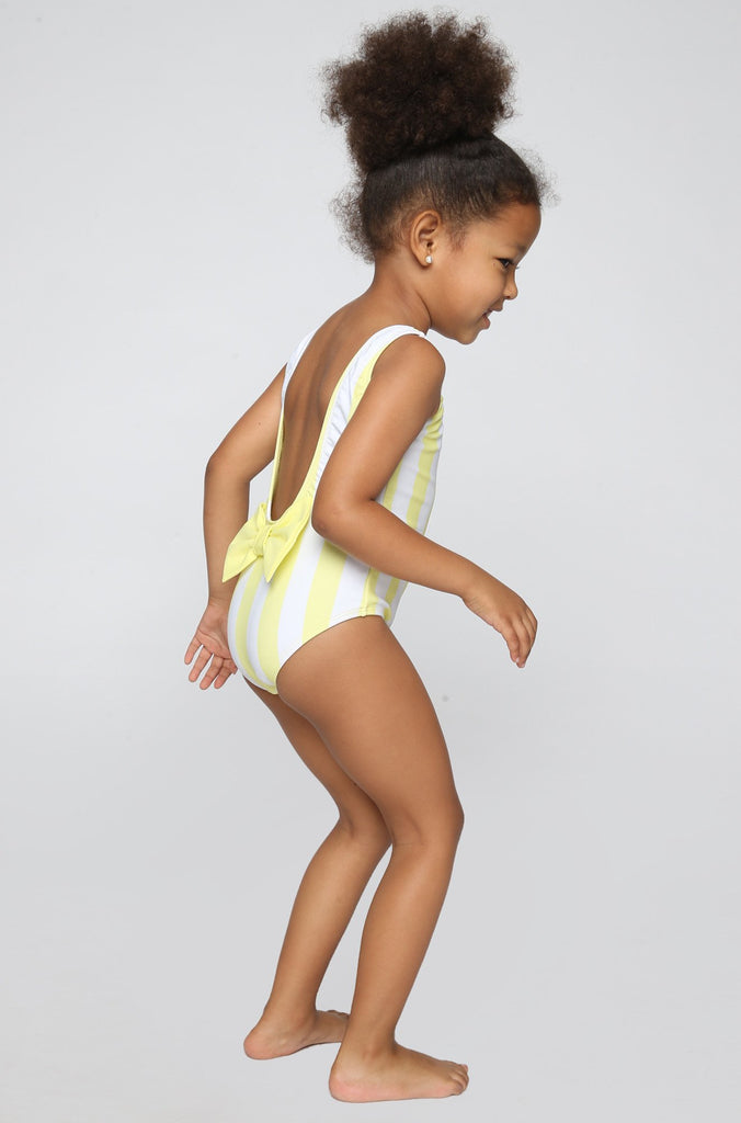 Lolli Swimwear 2016 Sweetie Babykini One Piece in Mellow Yellow Stripes|ISHINE365 - 4