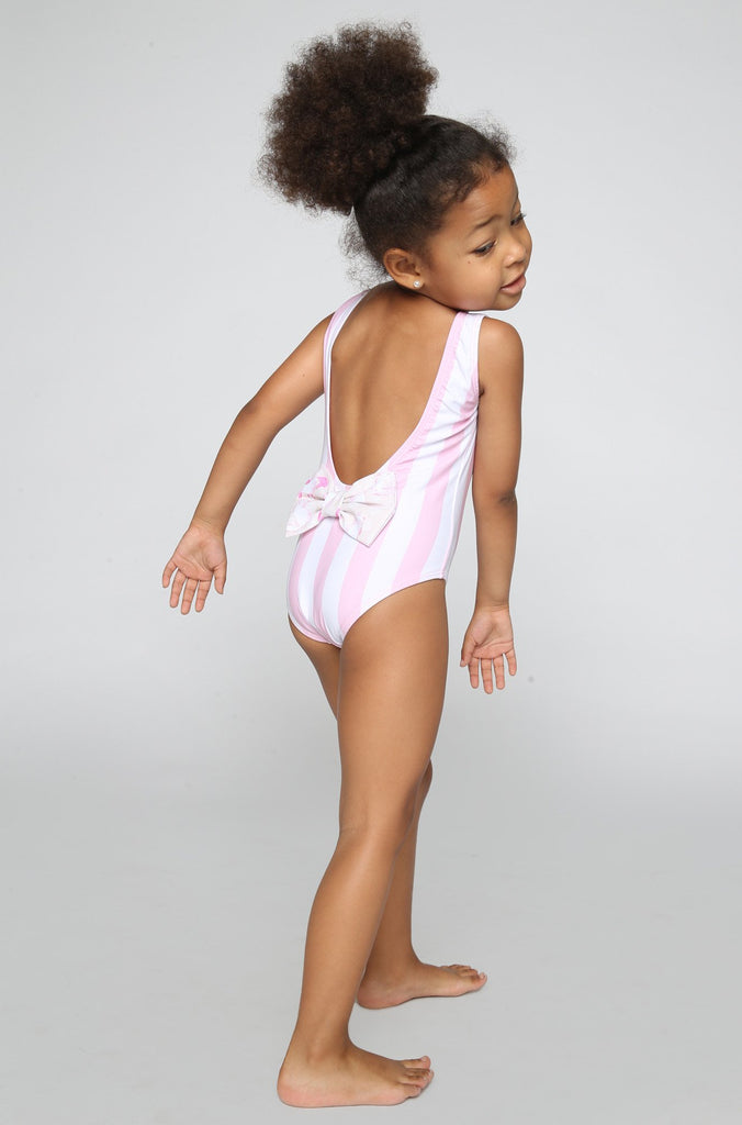 Sweetie Babykini One Piece in Pinky Stripes