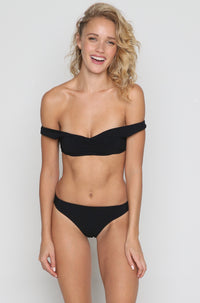 Pool Partee Bikini Top in Black