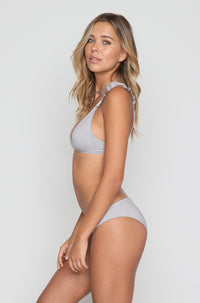 Sandy Bikini Bottom in Fog Grey