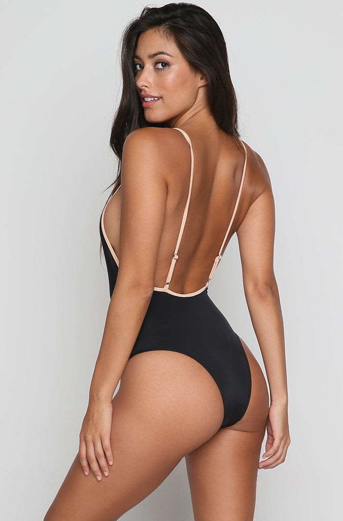 The Chelsea One Piece in Black/Nude