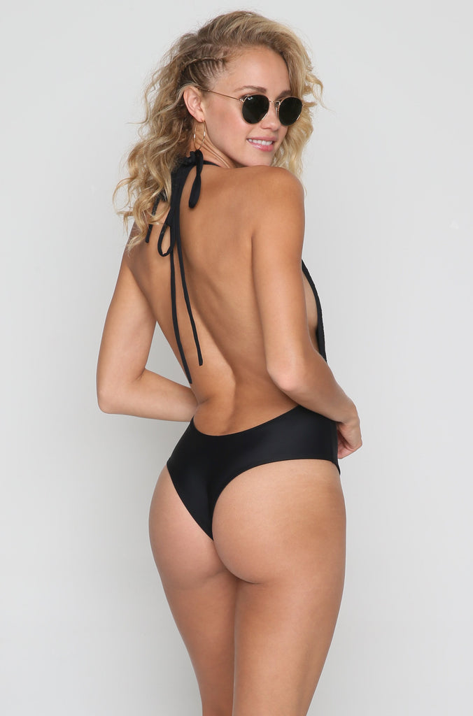 Backless One Piece in Palmilla Negra