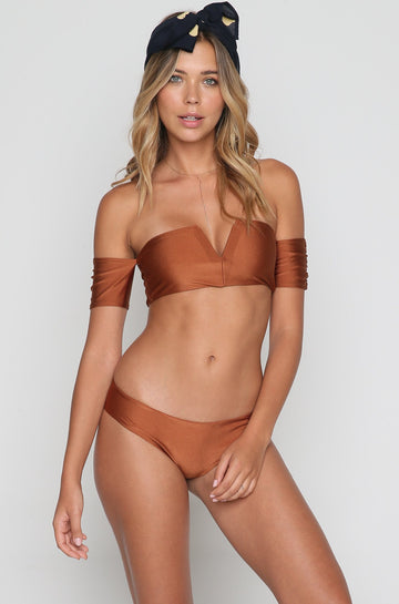 Monroe Bikini Top in Copper