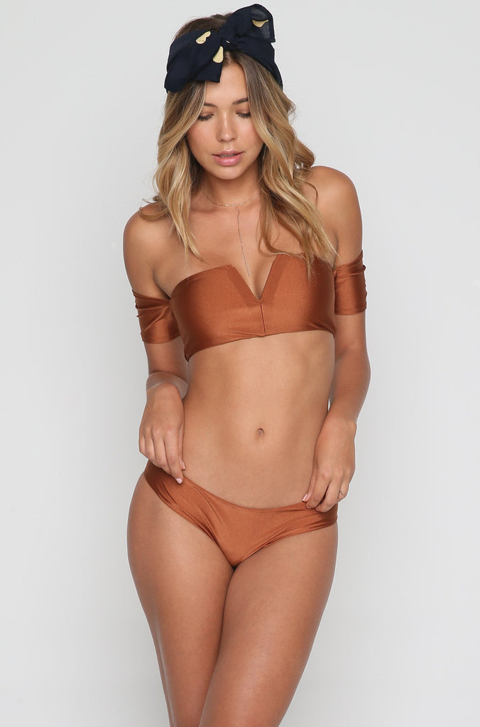 Quincy Bikini Bottom in Copper