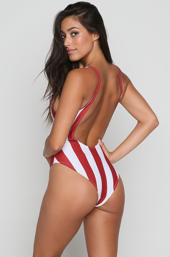 USA One Piece in White
