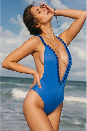 Allison One Piece in Marine Blue