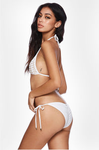 Hard Summer Tie Side Bottom in White