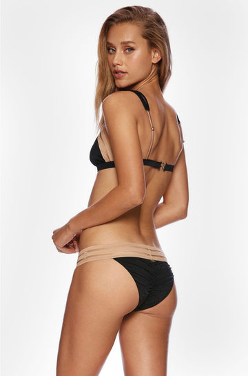 Sheer Addiction Skimpy Bottom in Black Nude