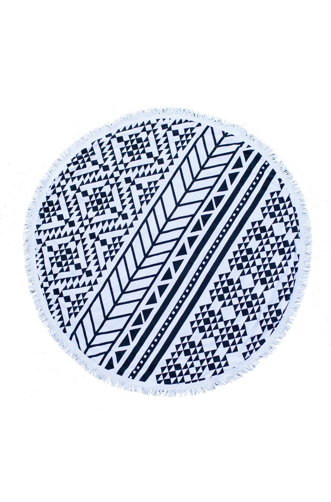 The Aztec Roundie Beach Towel