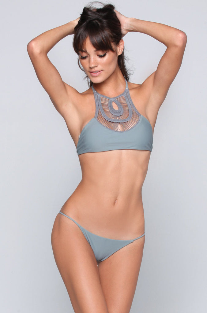 Bettinis Swimwear Minimal Bikini Bottom in Slate|ISHINE365 - 2