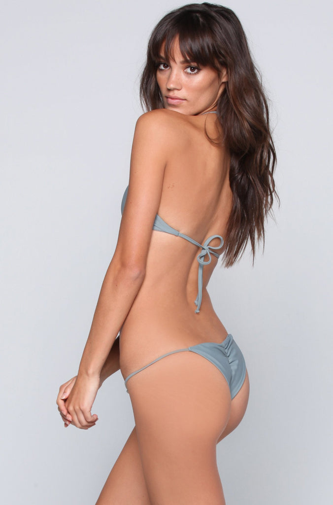 Bettinis Swimwear Minimal Bikini Bottom in Slate|ISHINE365 - 4