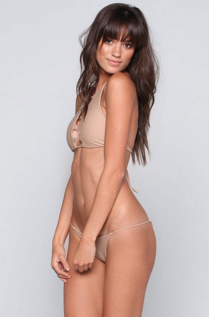 Bettinis Swimwear Minimal Bottom in Sand|ISHINE365 - 6