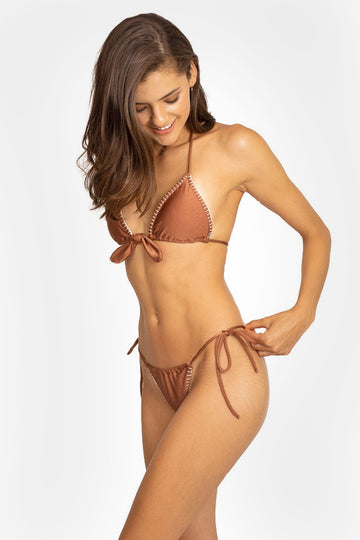 Nairobi Bikini Bottom in Copper