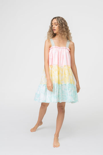 Lea Tea Dress in Tie Dye