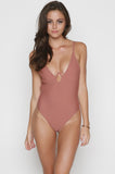 Venom One Piece in Dusty Rose