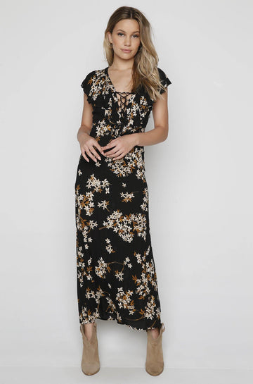 Alana Dress in Black Sands