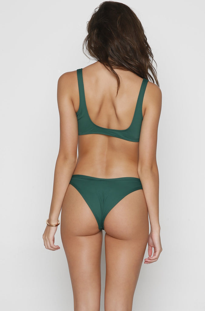 Whiplash Bikini Bottom in Emerald