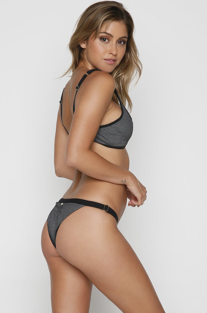 Presley Skimpy Bottom in Heather Grey
