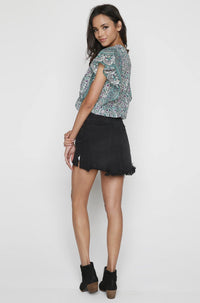 2020 Mini Skirt in Black Oak