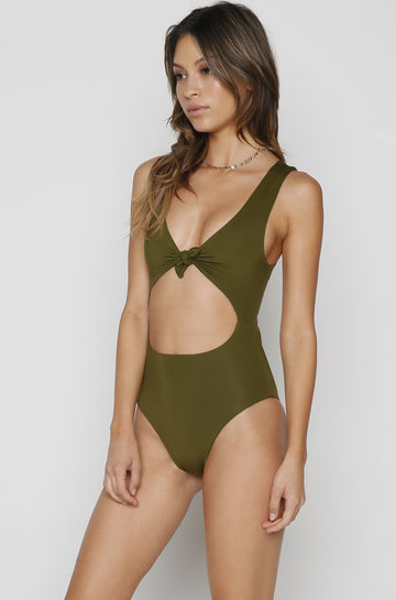 Layla One Piece in Seaweed Green